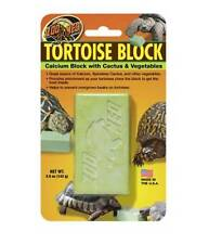 Zoo Med Tortoise Calcium Supplement Cactus/Veggie Vacation Turtle Treat Block