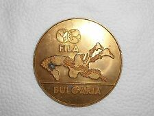 Bulgaria FILA Wrestling 1990 International champ Participant desk medal