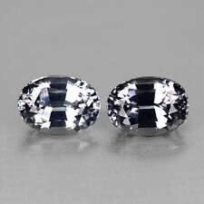 2.31CTS PRECISION 7X5MM OVAL NATURAL GRAY SPINEL PAIR VIDEO IN DESCRIPTION