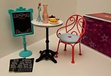 American Girl Doll Of the Year Grace's Graces Bistro Table Chair Set Food Menu