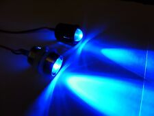 RC 10mm Blue LED Headlights Tail Lights/holders LEDs Quadcopter Plane Truck UFO