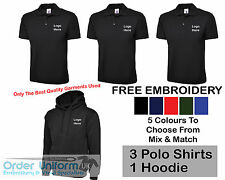 Personalised Embroidered Work Wear Package Printed T-Shirt Hoodie Polo Shirt