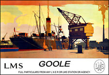 Art Ad Goole ss Don Coaling at the 40 ton Crane LMS Rail Travel   Poster Print