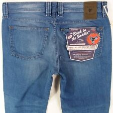 Mens Diesel  BACK IN THE SADDLE Relaxed Carrot  Mid Blue Jeans W34 L28 BNWT