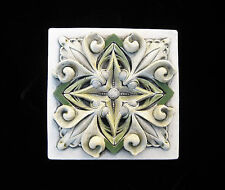 FLORAL   GARDEN  ARTS & CRAFTS  GOTHIC ELLISON TILE