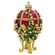 1898 Lilies of the Valley Russian Faberge Egg 3.5""