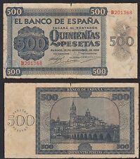 España - Spain  500 Pesetas   21-11-1936  Pick 102  BC = F