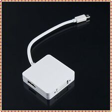 Mini Display Port Thunderbolt DP Cable to DVI HDMI VGA Adapter For Apple MacBook