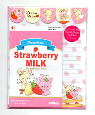 Strawbears Strawberry Milk Kawaii Letter Set Japan Stationery
