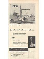 Historische Reklame - vintage adverts   BKS - Gabelstapler - Velbert Rheinland