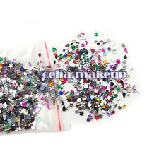 Shine 2000pc Mix Color Style Rhinestone Crystal Glitter Nail Art Tips Decoration