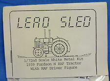 RARE LEAD SLED R.A.F. FORDSON N TRACTOR ALL WHITE METALMODEL KIT