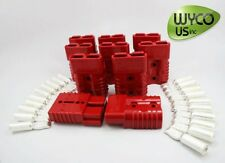 """ANDERSON CONNECTOR SB175A 600V, #2AWG (2 GAUGE), BIG RED, 3""""X2""""X1"""", LOT OF 10"""