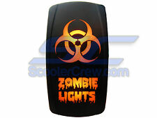 UTV Rocker Switch Orange Led On Off Zombie Light Toggle Square 5 prong Dune Sand