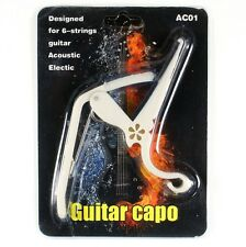 D28 New Quick Change Acoustic/ Electric Guitar Capo lightweight White