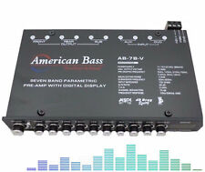 AB7BV American Bass 7-Band Pre-Amp Equalizer with Digital Display