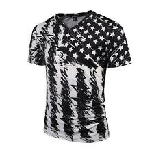 3D Print Graphic Men's T-Shirts Camo Floral Short Sleeve V Neck Casual Tee Tops