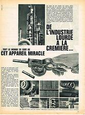 PUBLICITE ADVERTISING 084  1961   RUBAFIX  la DYMO  petite pince étiquettes