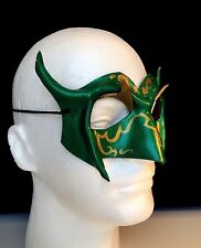 Green Carnival Mask Mardi Gras Mask Carnivale Festival Devil Horned Bird Mask