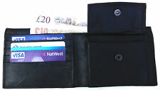 NEW HIGH QUALITY SOFT BLACK REAL LEATHER WALLET,CASH NOTE,CARD HOLDER