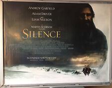 Cinema Poster: SILENCE 2017 (Main Quad) Andrew Garfield Adam Driver Liam Neeson