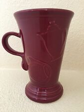 Fiesta Fiestaware Cinnabar Tall Cappuccino Latte  Mug Retired New Unused