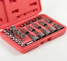 NEW Male Female Torx Star Socket & Bit Set/ 30pcs E & T Sockets with Torx Bits