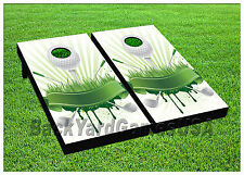 VINYL WRAPS Cornhole Boards DECALS Golf Fans Bag Toss Game Stickers 682