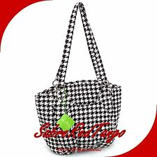 NWT VERA BRADLEY QUILTED GLENNA SHOULDER BAG TOTE PURSE MIDNIGHT HOUNDSTOOTH