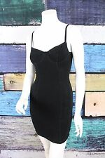 American Apparel Black Underwire Bustier Sweetheart Bodycon Dress SMALL S