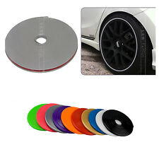 7M Car Silver&Gray Decorative Reflective Rim Tape Wheel Stripe Sticker Protector