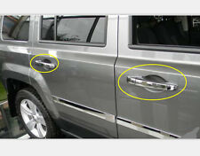 2011-2015 For Jeep Patriot Chrome Side Door Outer Handles Cover Trim ABS 8pcs