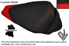 BLACK & RED CUSTOM FITS APRILIA RS4 125 11-12 REAR PILLION LEATHER SEAT COVER