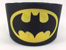 By The Yard 3 Inch Batman Comic Book Logo Grosgrain Ribbon Hair Bows Lisa