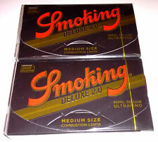- 2 X Smoking DELUXE 2.0-300 hojas -Papel fumar,cigarette paper -Total600 leaves