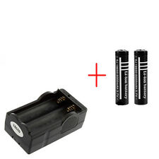 2X 3.7V 6000mAh 18650 Li-ion Battery + US Plug Travel Wall Home Charger HS