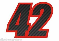 150mm CARBON FIBRE EFFECT RACE NUMBER RALLY MOTORSPORT TRACKDAY STICKER GRAPHICS