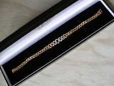 18CT YELLOW GOLD DIAMOND SET BRACELET MADE IN ITALY BRAND NEW IN BOX QUALITY