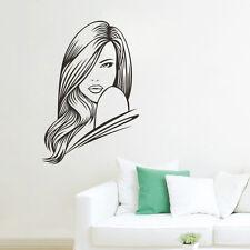 Woman Beauty Hair Lady Wall Art Decor Vinyl Sticker Salon SPA Shop Decal Mural