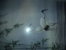 "VIETNAMESE PAINTING ""STORKS ON THE MEKONG"" SON BANG- ARTIST"