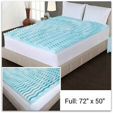 "Memory Foam Mattress Topper Full Size 2"" Thick Egg Crate Orthopedic Cushion Bed"