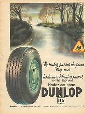 Publicité Advertising 1953  Pneus DUNLOP  D5