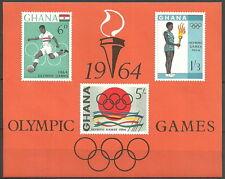 Ghana - Olympische Sommerspiele Tokio Block 12 postfrisch 1964  Mi.Nr. 192-194