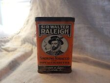 Vintage Sir Walter Raleigh Tobacco Tin 4.5""