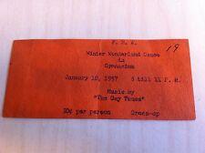 vintage F.H.A. Winter Wonderland Gymnasium Dance 1957 Ticket Music by GAY TUNES