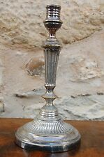 Bougeoir Bronze Argenté XIX Ancien Louis XVI Antique French Candlestick