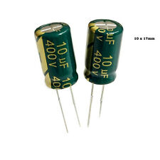 2 x  10uf  400v Condensador electrolítico Radial 105c Pitch:5 mm