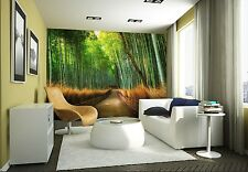 Wall mural giant size Green Bamboo forest photo wallpaper office living room