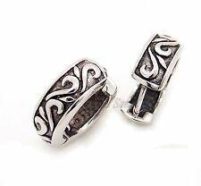 One Pair of 316L Men's Celtic Pattern Stainless Steel Huggie Earrings