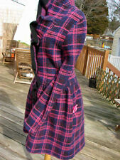 NWT BETSEY JOHNSON SOLD OUT PLAID JACQUARD RUFFLE COAT~M SALE!